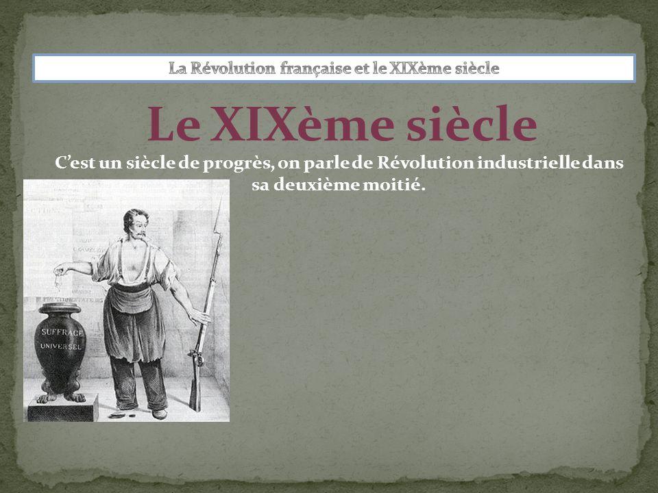 Le XIXème siècle Cest un siècle de progrès, on parle de Révolution industrielle dans sa deuxième moitié.
