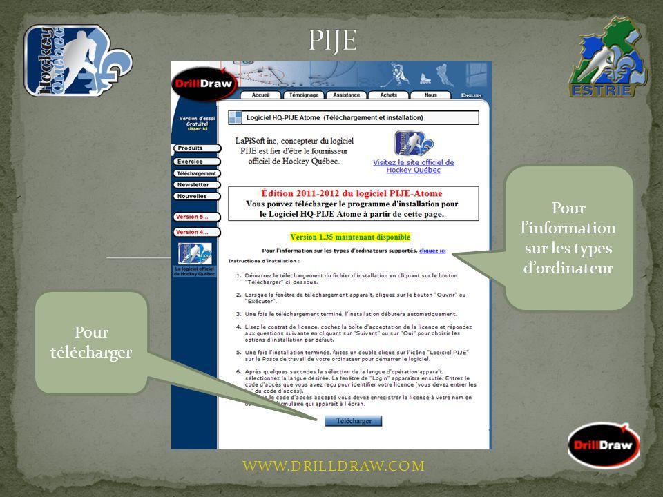 WWW.DRILLDRAW.COM Pour télécharger Pour linformation sur les types dordinateur