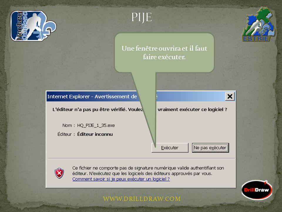 WWW.DRILLDRAW.COM Sur votre bureau, un nouvel icône sera créé, il suffi de faire un double clique pour accéder au programme.