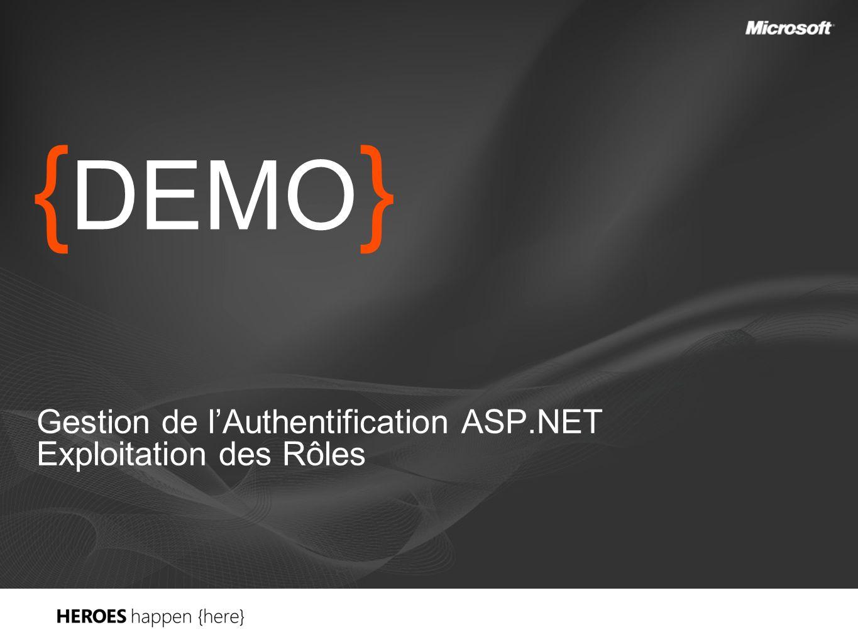 { DEMO } Gestion de lAuthentification ASP.NET Exploitation des Rôles
