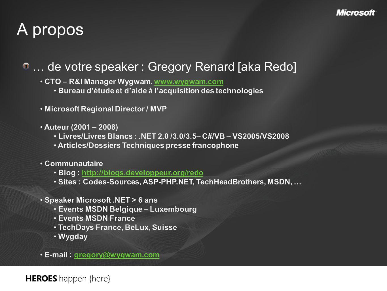 A propos … de votre speaker : Gregory Renard [aka Redo]