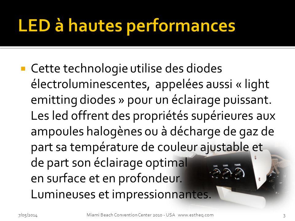 Cette technologie utilise des diodes électroluminescentes, appelées aussi « light emitting diodes » pour un éclairage puissant.