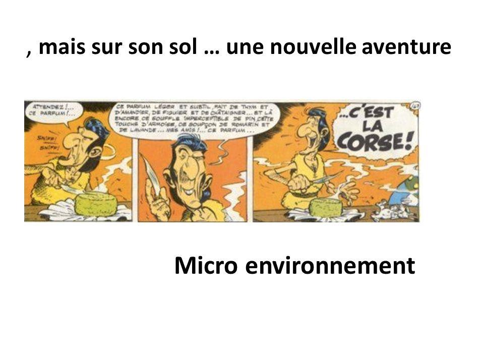 , mais sur son sol … une nouvelle aventure Micro environnement