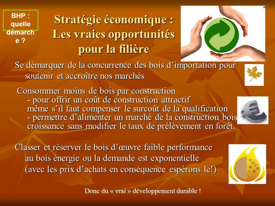 Stratégie économique : Les vraies opportunités pour la filière Consommer moins de bois par construction - pour offrir un coût de construction attracti