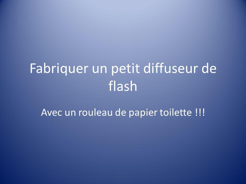 Fabriquer un petit diffuseur de flash Avec un rouleau de papier toilette !!!