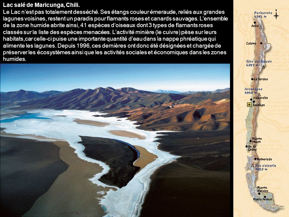 Dune de sable marquant lentrée de la vallée de la Lune, Chili. Couverte dune croûte de sel blanc étincelant, la vallée de la Lune reflète si bien last
