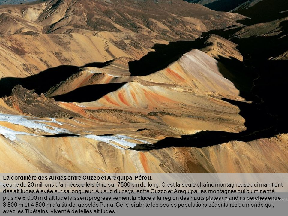 La cordillère des Andes entre Cuzco et Arequipa, Pérou.
