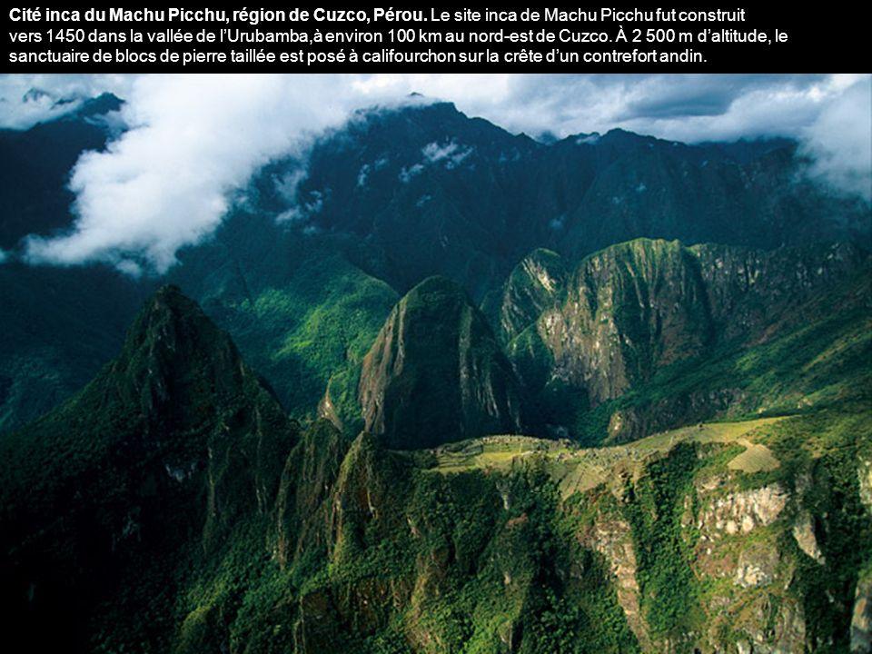 Cité inca du Machu Picchu, région de Cuzco, Pérou.