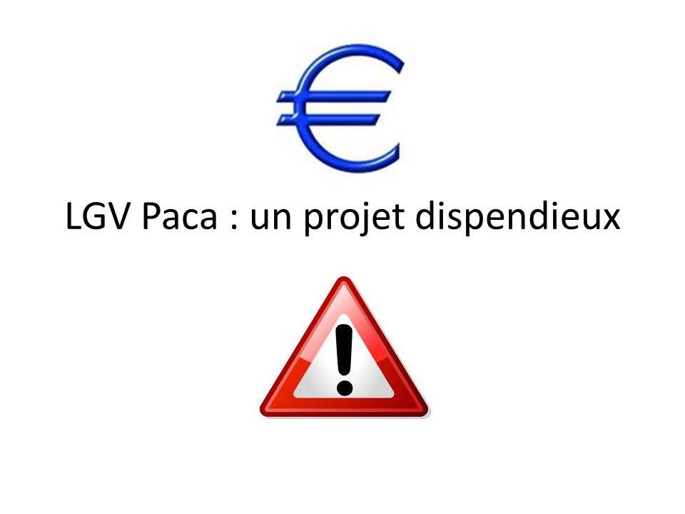 LGV Paca : un projet dispendieux