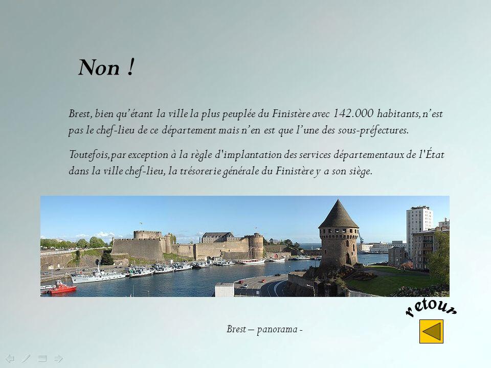 Quel est le chef-lieu du Finistère ? Brest Quimper Châteaulin