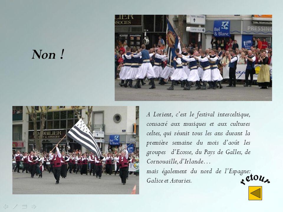 Dans quelle ville a lieu tous les ans le festival de la danse bretonne ? Lorient Guingamp Carhaix