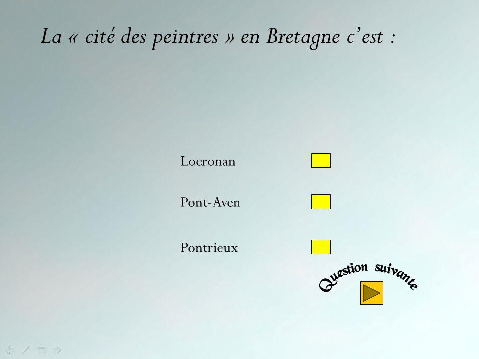 Non .Le coco est la spécialité de Paimpol (Côtes dArmor).