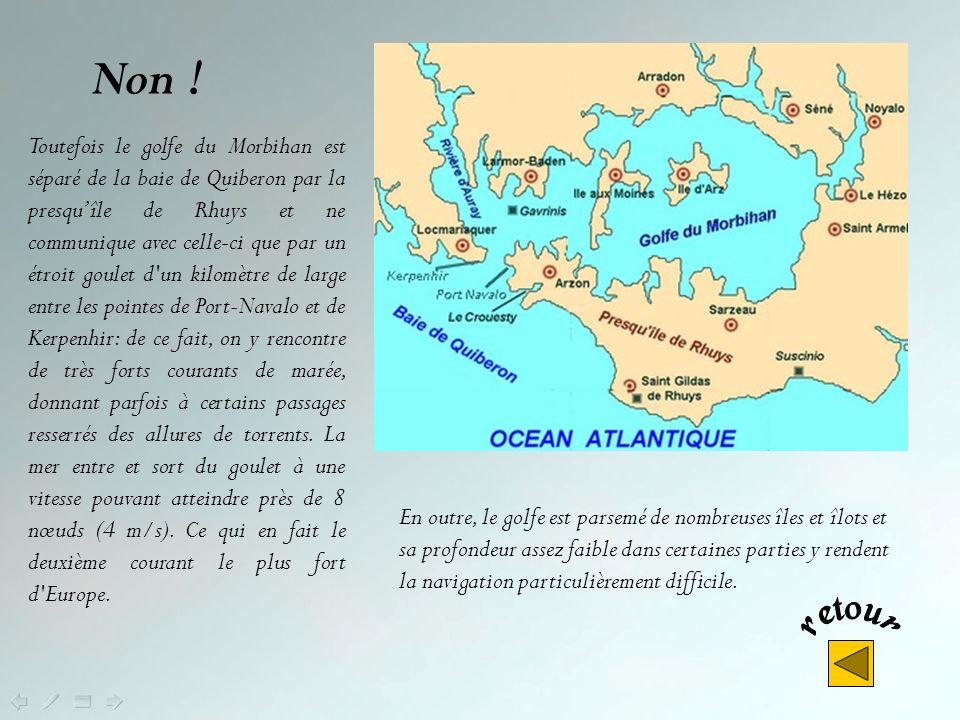Non ! Mais à la différence de la rade de Brest et de la baie de Douarnenez qui sont des plans d'eau très protégés des vents, propres à accueillir des