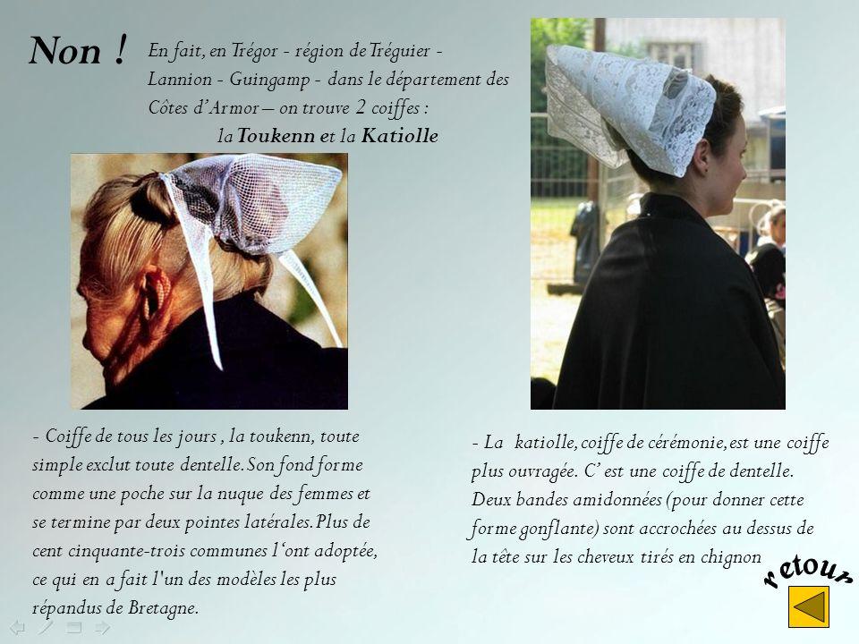 Cest la coiffe des bigoudènes. (Le pays bigouden se situe au sud- ouest de Quimper -Finistère-) Pour la petite histoire, les bigoudènes auraient élevé