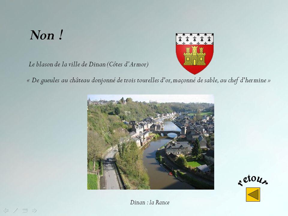 Ce blason est celui de : Dinan Rennes Fougères