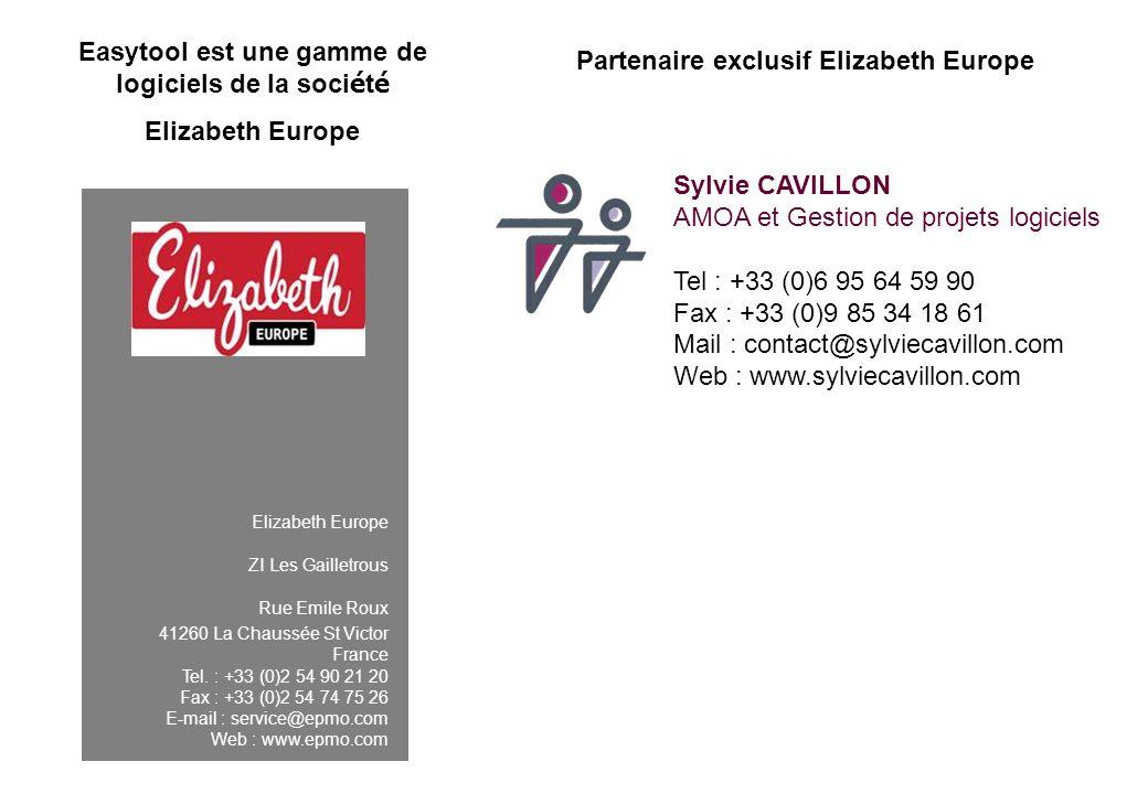 Elizabeth Europe ZI Les Gailletrous Rue Emile Roux 41260 La Chaussée St Victor France Tel. : +33 (0)2 54 90 21 20 Fax : +33 (0)2 54 74 75 26 E-mail :