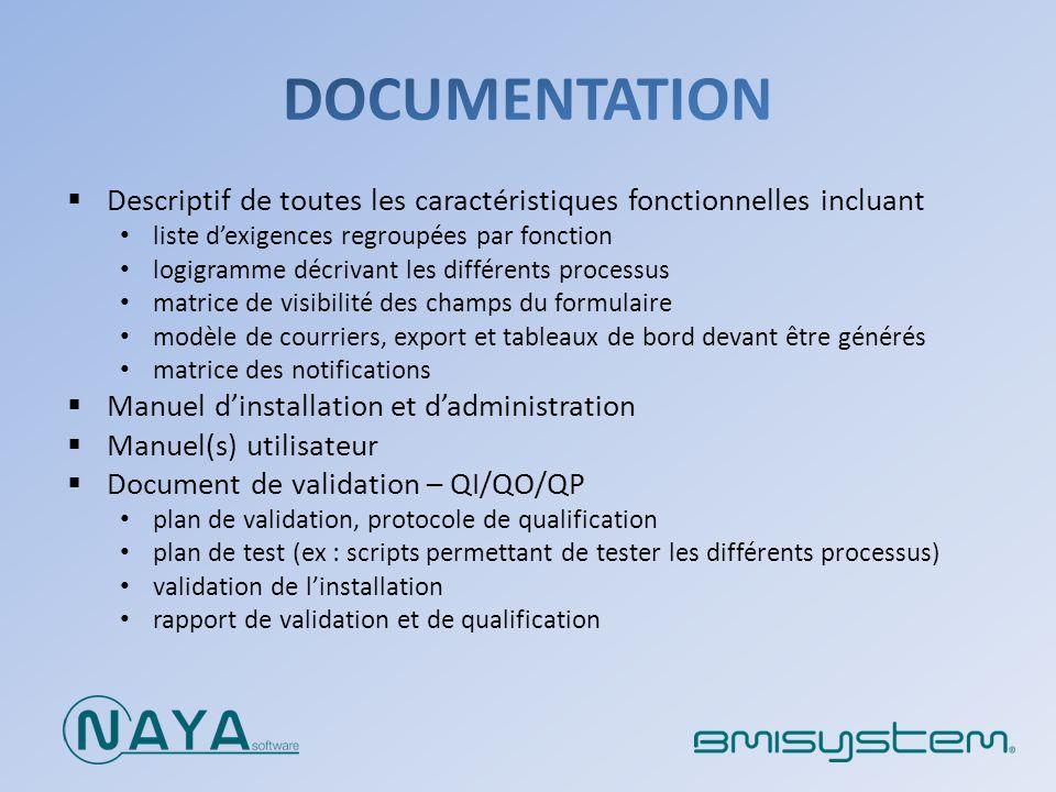 Descriptif de toutes les caractéristiques fonctionnelles incluant liste dexigences regroupées par fonction logigramme décrivant les différents process