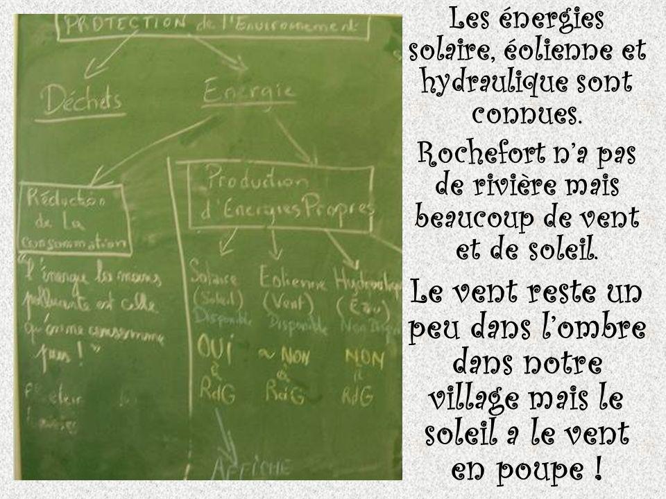 Nous ferons donc nos affiches sur la production dénergie solaire à Rochefort.