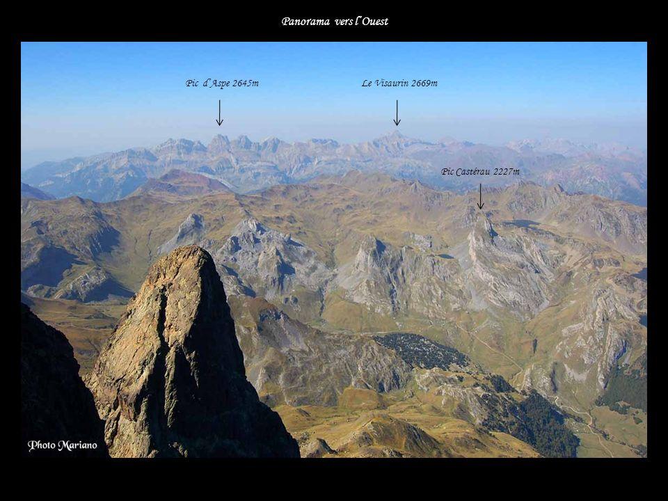...... Panorama immense sur 360° Pic de Ger 2613m Grand Gabizos 2692m Le Lurien 2826m