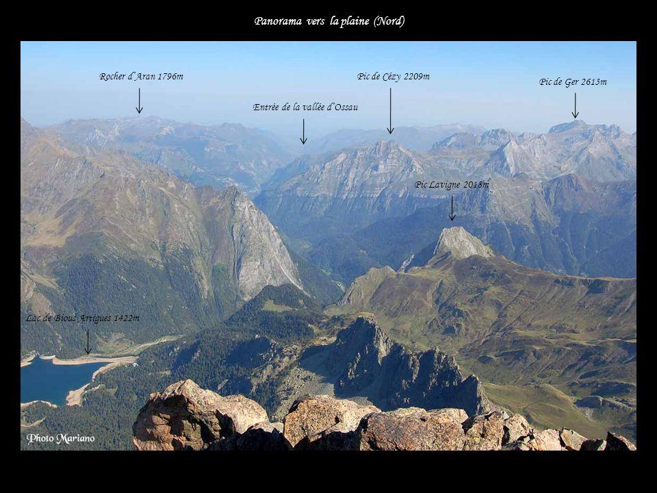 ...... Pic dAspe 2645m Panorama vers lOuest Le Visaurin 2669m Pic Castérau 2227m