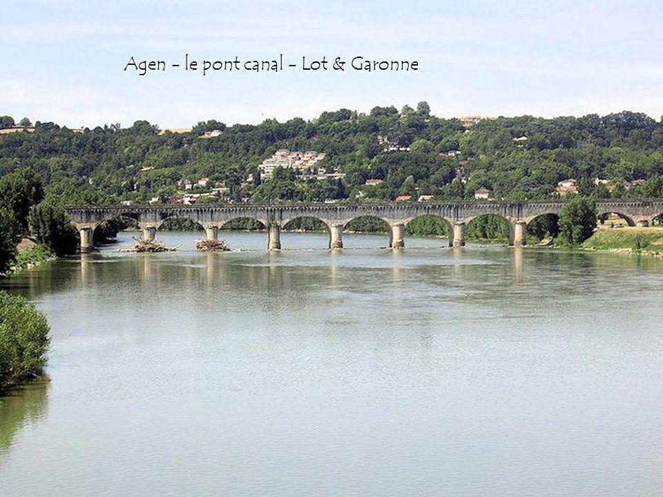 Agen - le pont canal - Lot & Garonne