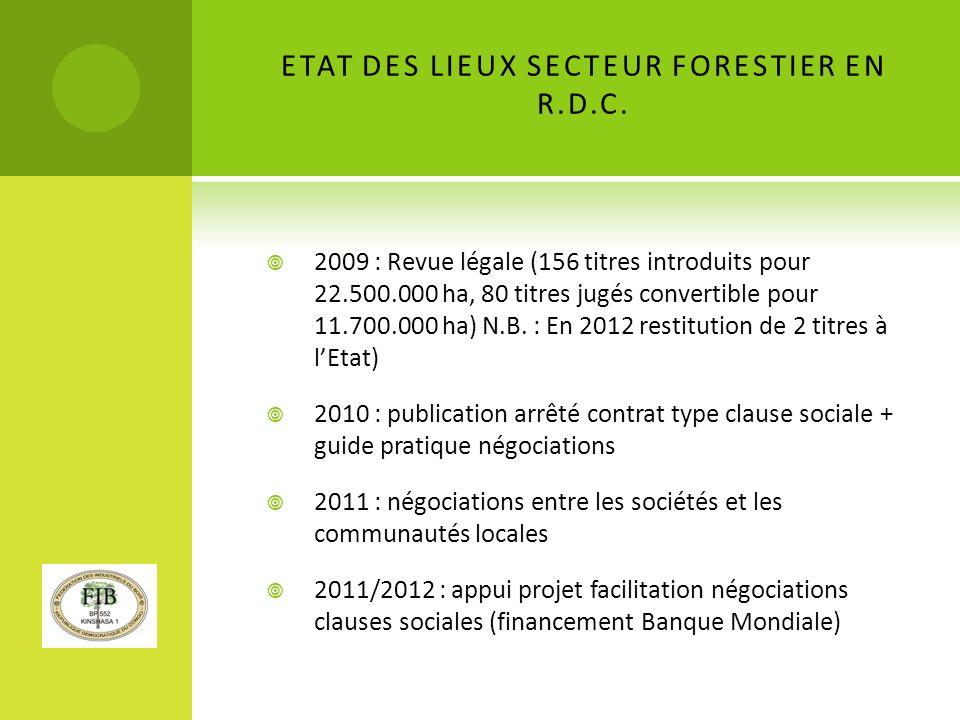 EXPLOITATION FORESTIERE : LARTISANALE ET LE FORMEL TRANSFORMATION