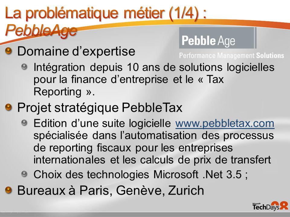 Domaine dexpertise Intégration depuis 10 ans de solutions logicielles pour la finance dentreprise et le « Tax Reporting ». Projet stratégique PebbleTa