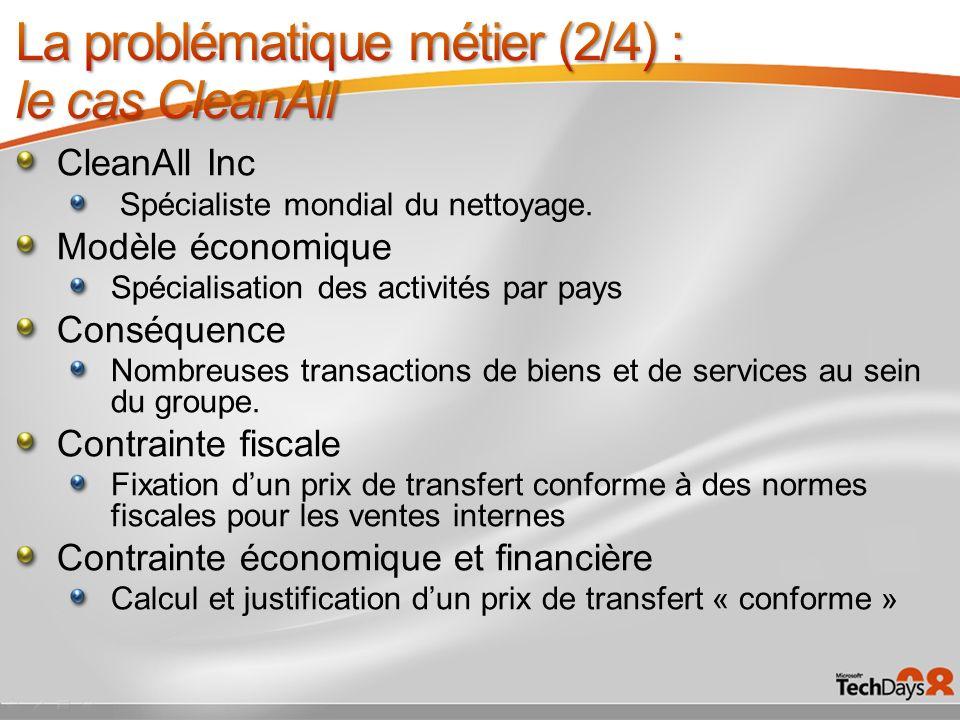 CleanAll Inc Spécialiste mondial du nettoyage. Modèle économique Spécialisation des activités par pays Conséquence Nombreuses transactions de biens et