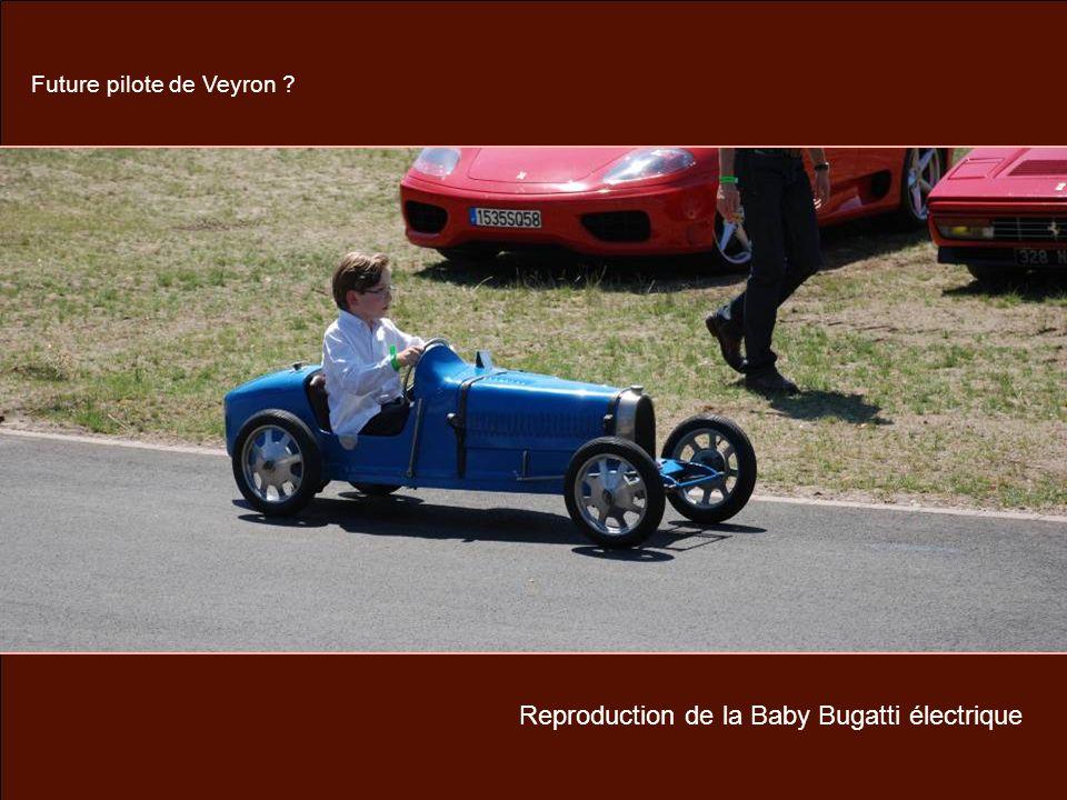 Reproduction de la Baby Bugatti électrique Future pilote de Veyron