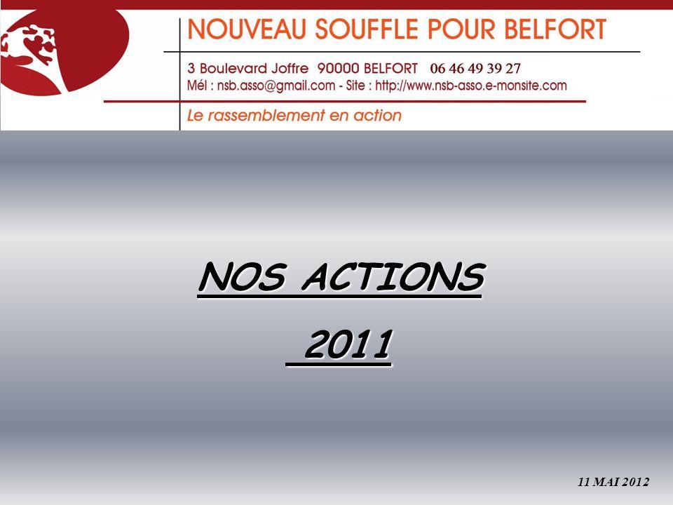 NOS ACTIONS 2011 2011 11 MAI 2012