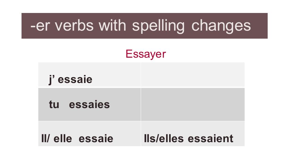 french conjugation essayer verb