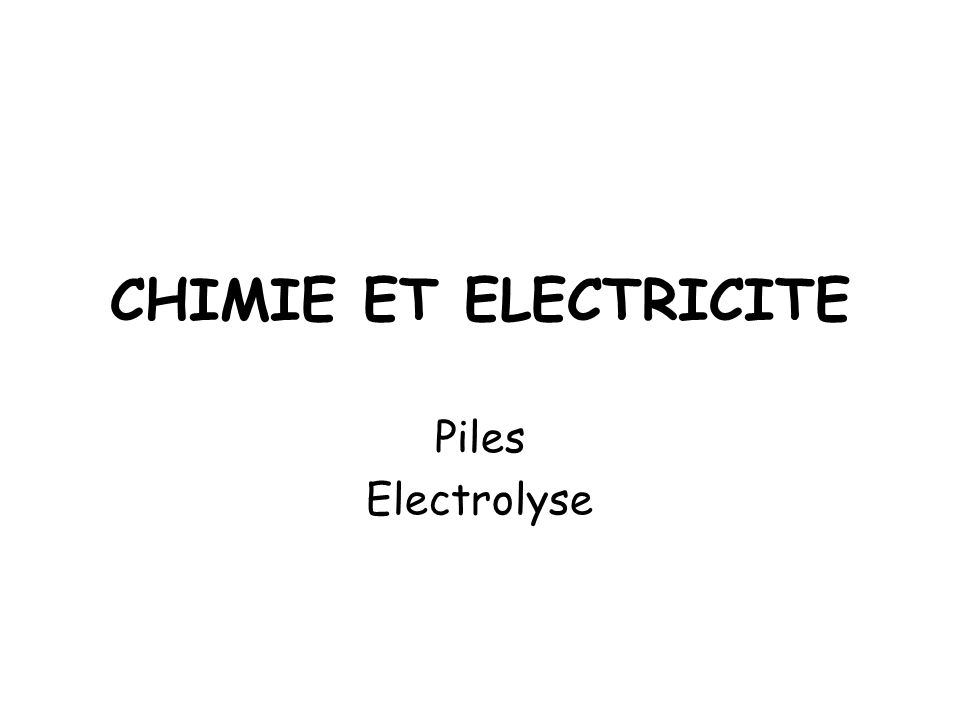 QUELQUES PILES USUELLES Pile Leclanché Pile saline Anode :Zn 2+ aq /Zn (s) Cathode :MnO 2(s) /MnO(OH) (s) Pont salin :NH 4 + aq + Cl - aq Pile alcaline Anode :Zn 2+ aq /Zn (s) Cathode :MnO 2(s) /MnO(OH) (s) Pont salin :K + aq + HO - aq Pile au lithium Anode :Li + aq /Li (s) Cathode :MnO 2(s) /MnO(OH) (s)