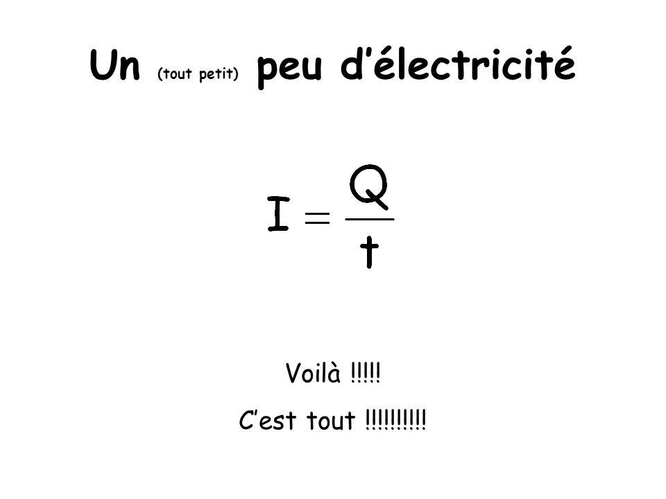 Un (tout petit) peu délectricité Voilà !!!!! Cest tout !!!!!!!!!!