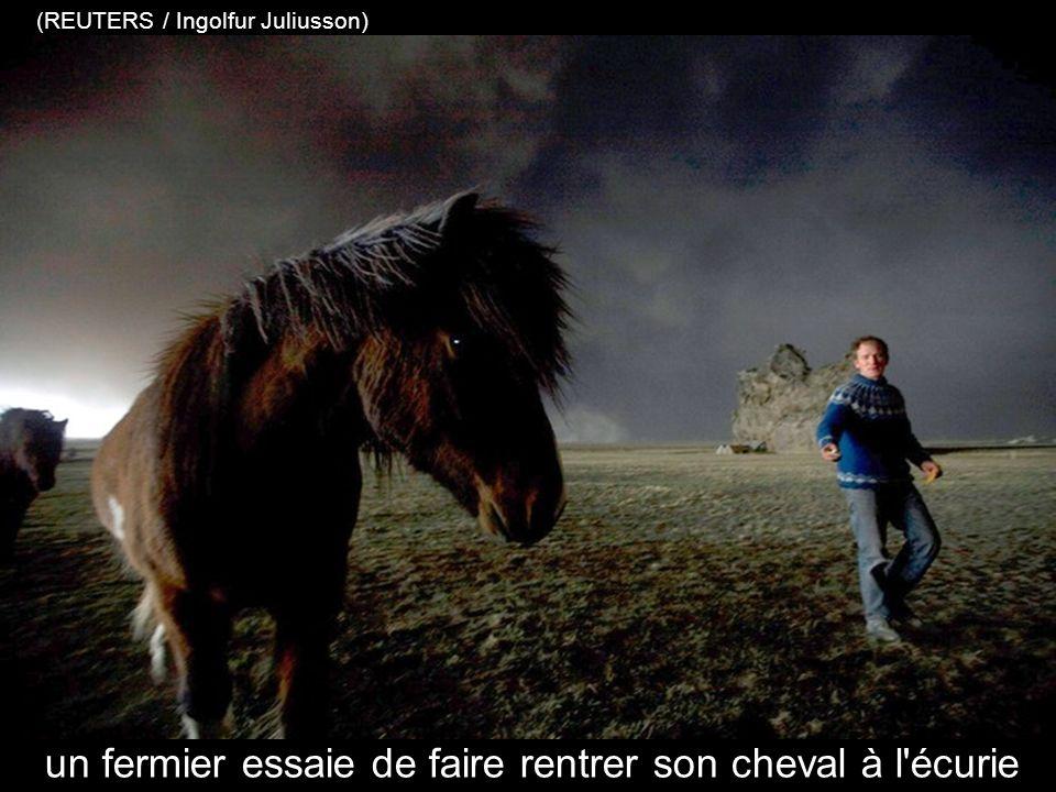 le nuage de cendres noires domine la côte sud islandaise (REUTERS / Ingolfur Juliusson)