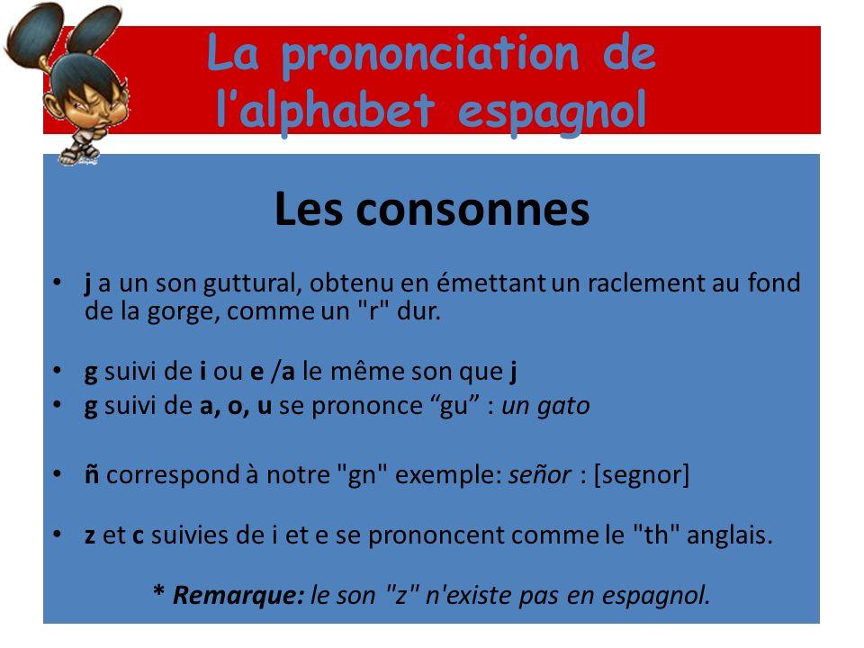 La prononciation de lalphabet espagnol Les voyelles « e » se prononce