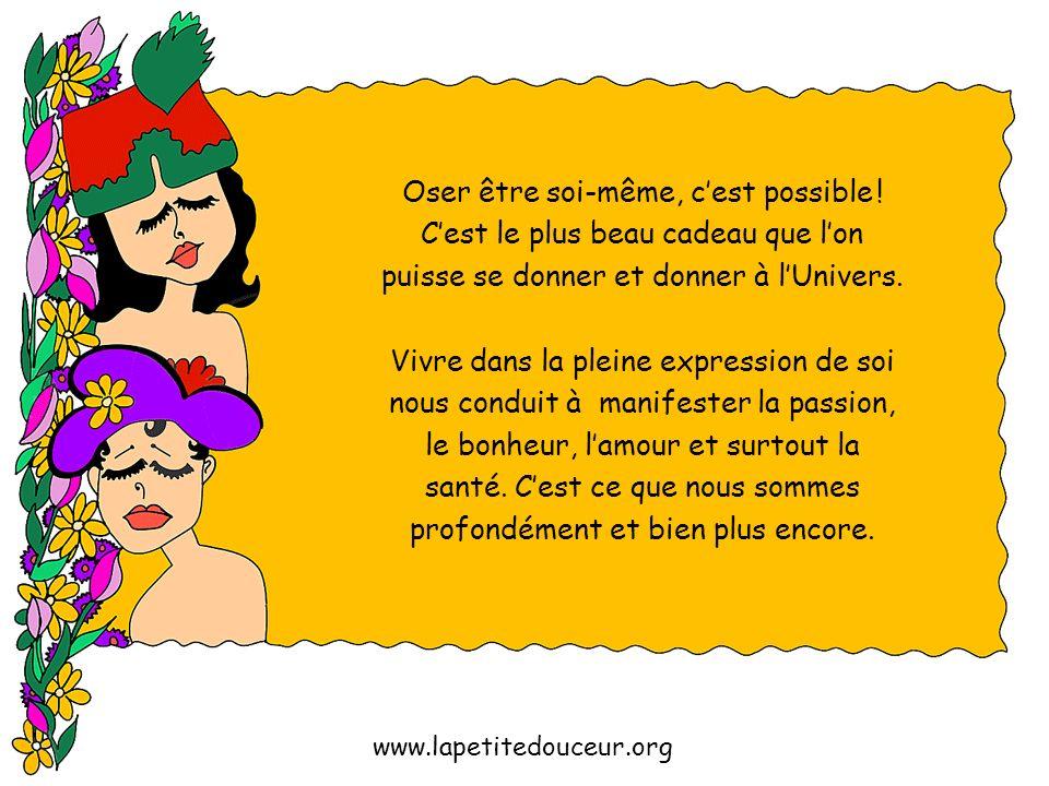 Nicole Charest © / www.lapetitedouceur.org « Beaucoup de gens sont mal dans leur peau parce quils ne sont pas vraiment dans la leur. » René de Lassus