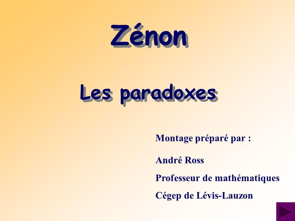 Le philosophe grec Zénon est né à Élée, une ville du sud de lItalie, entre ~495 et ~480.