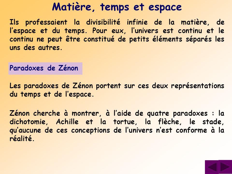 Analyse du paradoxe Tout en considérant que le temps est infiniment divisible, Zénon décrit la situation en faisant comme si chaque intervalle avait même durée.