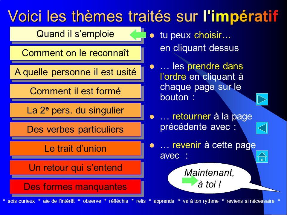 l'impératif Jean-Pierre Mottet présentprésentprésentprésent