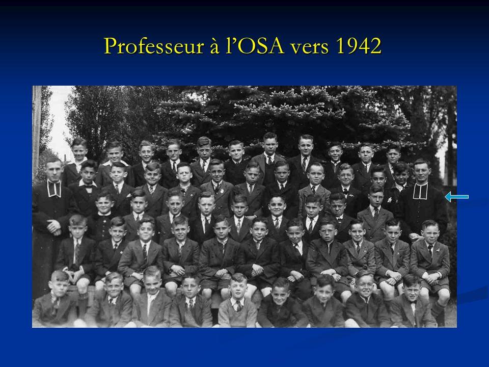 Professeur à lOSA vers 1942