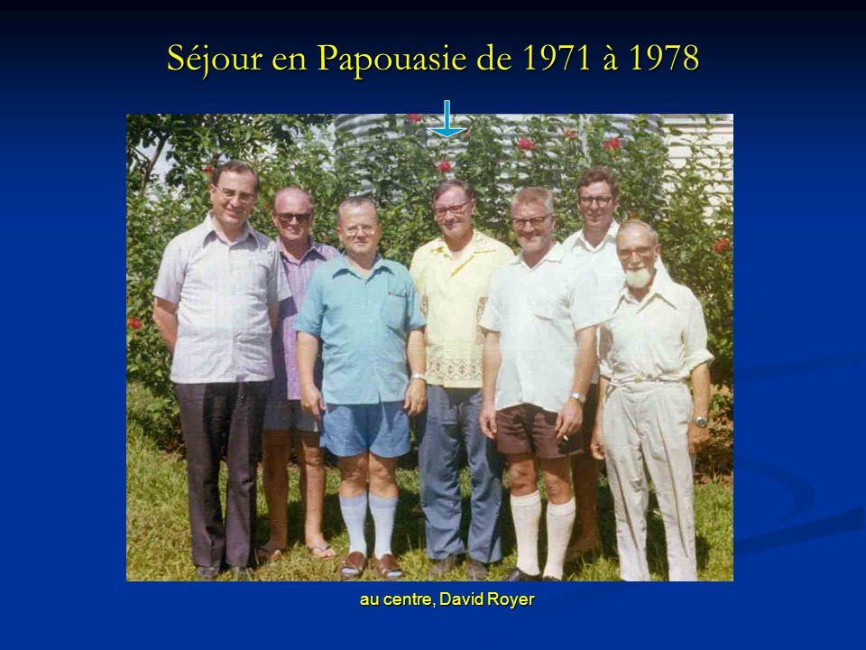 Séjour en Papouasie de 1971 à 1978 au centre, David Royer