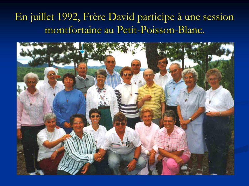 En juillet 1992, Frère David participe à une session montfortaine au Petit-Poisson-Blanc.