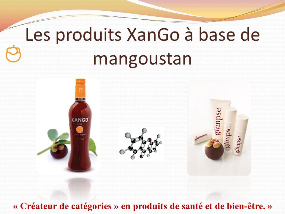 Les produits XanGo à base de mangoustan « Créateur de catégories » en produits de santé et de bien-être. »