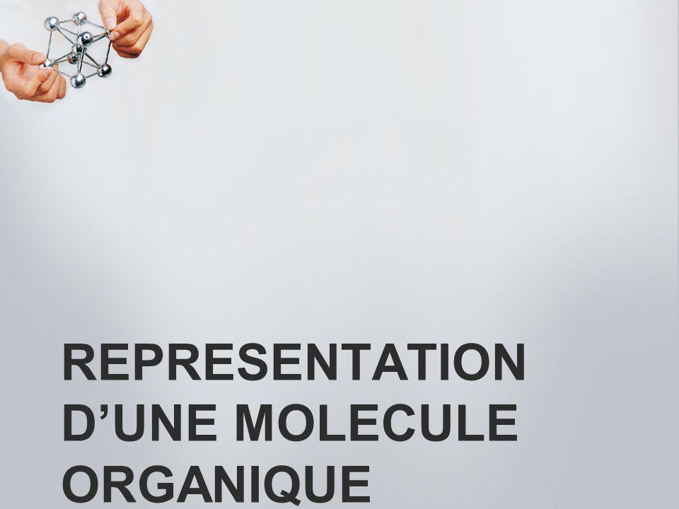REPRESENTATION DUNE MOLECULE ORGANIQUE