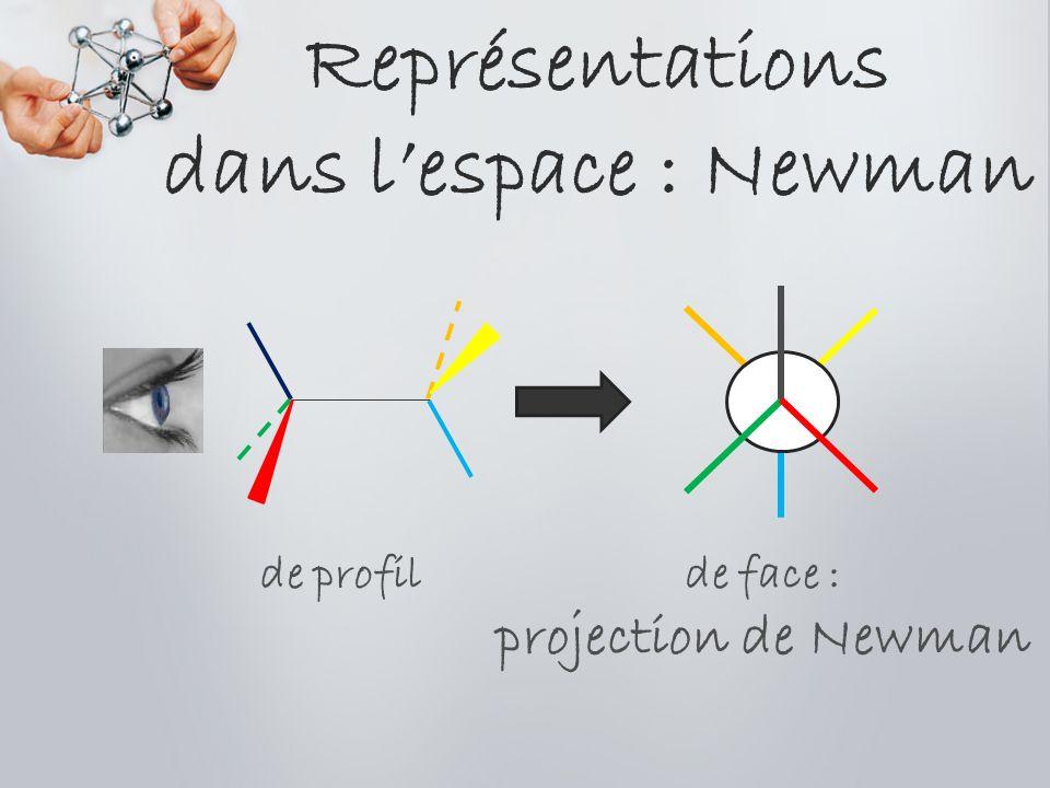 Représentations dans lespace : Newman de profil de face : projection de Newman