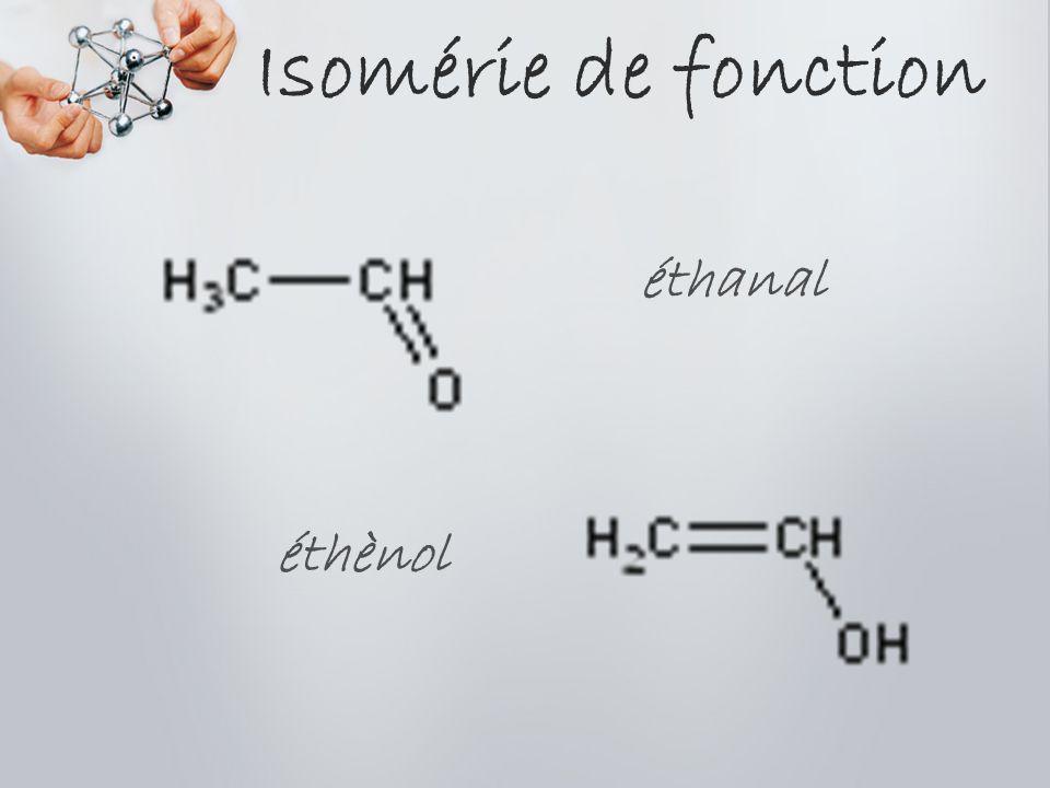 Isomérie de fonction éthanal éthènol