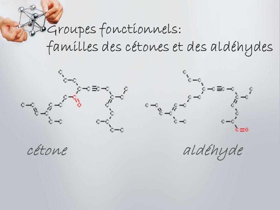 Groupes fonctionnels: famille des alcools alcool primaire alcool tertiaire alcool secondaire