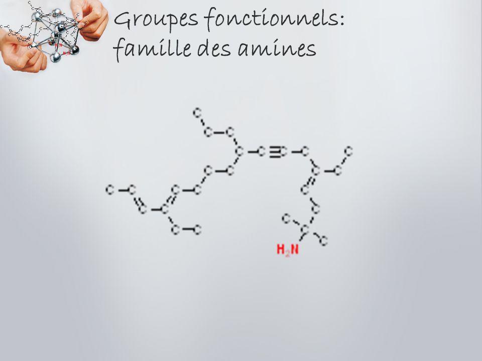 Groupes fonctionnels: famille des amines