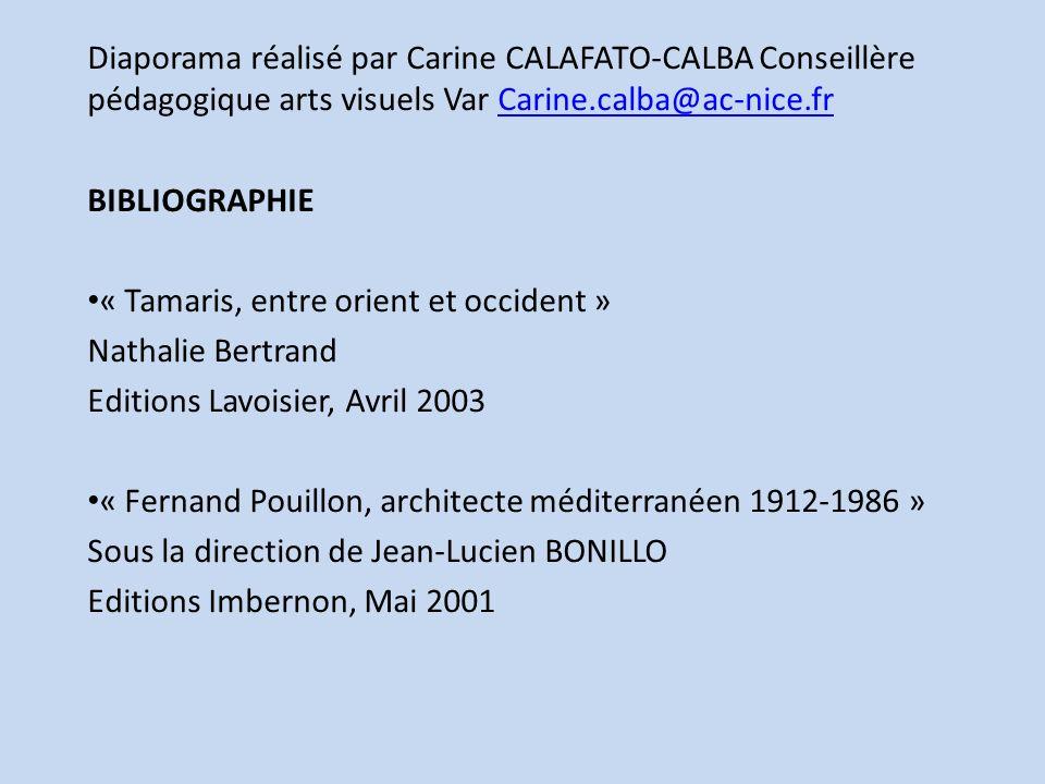 Diaporama réalisé par Carine CALAFATO-CALBA Conseillère pédagogique arts visuels Var Carine.calba@ac-nice.frCarine.calba@ac-nice.fr BIBLIOGRAPHIE « Ta