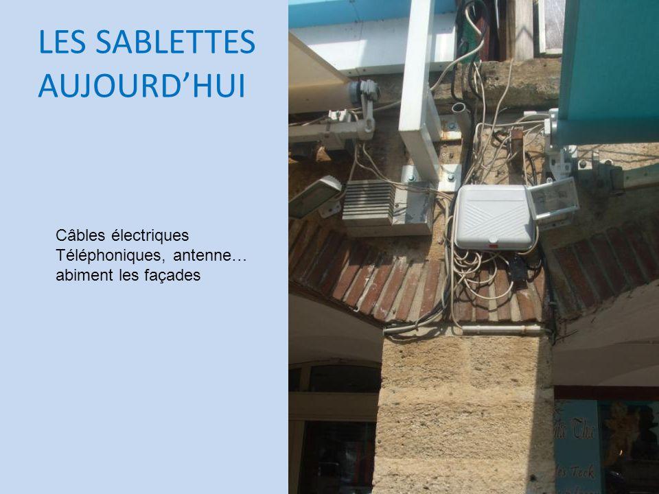 LES SABLETTES AUJOURDHUI Câbles électriques Téléphoniques, antenne… abiment les façades